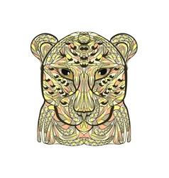 Ethnic leopard vector