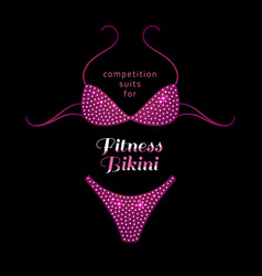 Fitness bikini suit vector