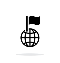 Flag icon on white background vector