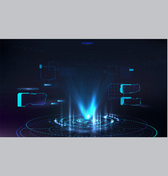 futuristic hologram for presentation in hud style vector image