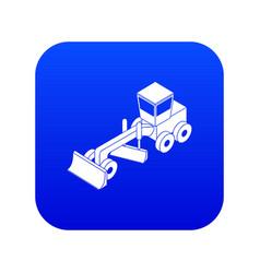Grader icon blue vector