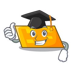 Graduation parallelogram character cartoon style vector