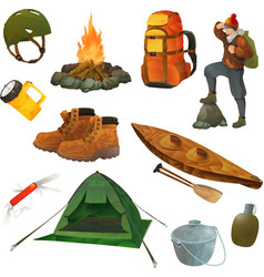 Hike icons vector image