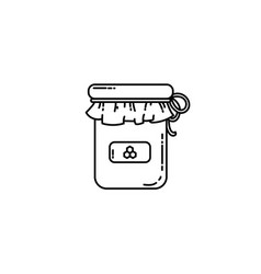 honey jar flat icon vector image