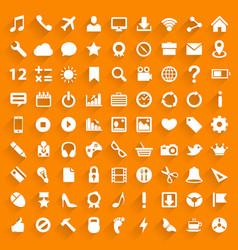 Icon set art technology file vector