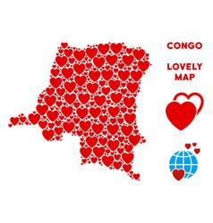 love democratic republic of the congo map vector image