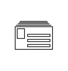mail pack icon vector image