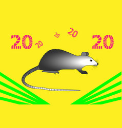 metal rat in the style of pop art vector image