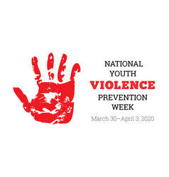 National youth violence prevention week vector