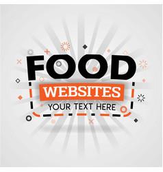 Orange logo template for food websites for vector