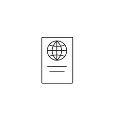 passport linear icon vector image