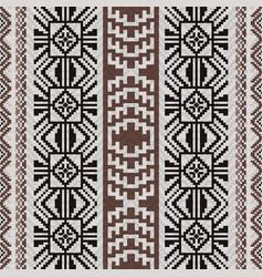 Peruvian inca style fabric pattern vector