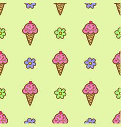 pink ice cream vector image