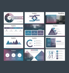 Purple abstract presentation templates vector