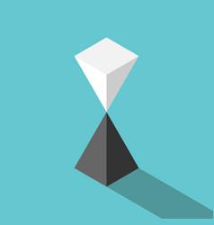 pyramids unstable equilibrium vector image