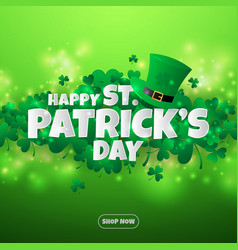 realistic paper cut out st patricks day vector image