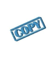 Rectangular stamp copy vector image