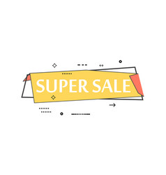 retail speech bubble with super sale phrase vector image