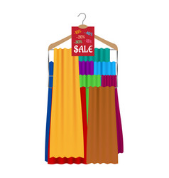 Sale banner hanging on the hanger vector
