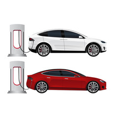 Set of electric cars vector