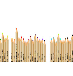 set of pencils on white background eps 10 vector image