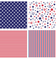Set of us style seamless patterns vector