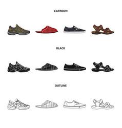 Shoe and footwear logo set vector