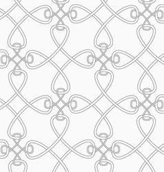 Slim gray cross interlocking ornament vector