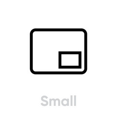 small video tv icon editable line vector image