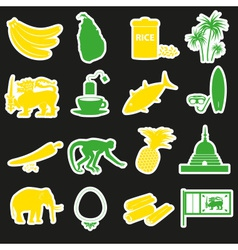 Sri-lanka country symbols color stickers set eps10 vector