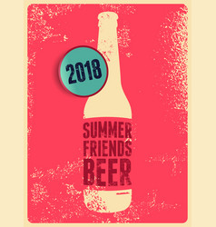 typographic vintage grunge beer poster vector image