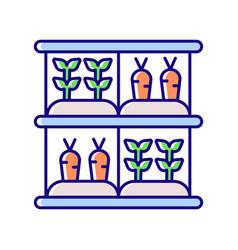Vertical farm rgb color icon vector
