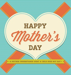 vintage happy motherss day design for template vector image