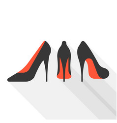 woman high heels with long shadow vector image