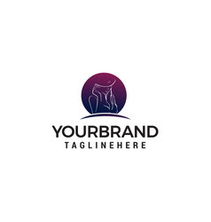 women fashion logo hand drawn stylish design vector image