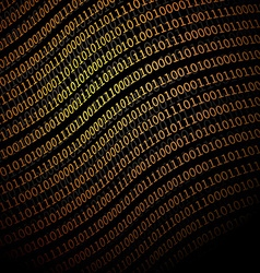 Binary Data background vector image vector image