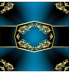 gold background a frame vector image vector image