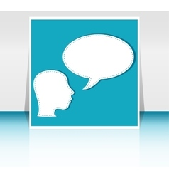 man with Speech Bubbles over his head vector image vector image