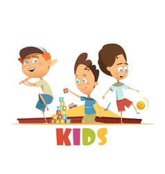 Playing Children Concept vector image vector image