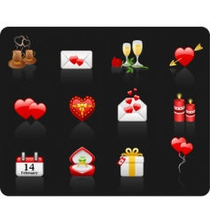 valentine day black background vector image
