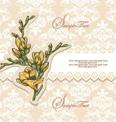 Elegant Floral Invitation card vector image vector image