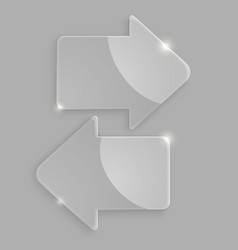 Glass arrows icons vector image vector image