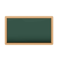 Green chalkboard on white background vector image