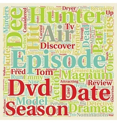 Hunter season dvd review text background wordcloud vector