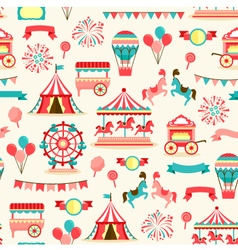 Seamless pattern - vintage carnival vector