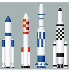 Space rockets vector image