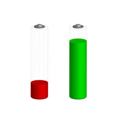battery charge symbols in 3d vector image vector image