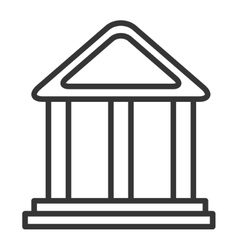 black and white bank building graphic vector image