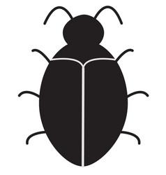 bug software bug icon on white background vector image