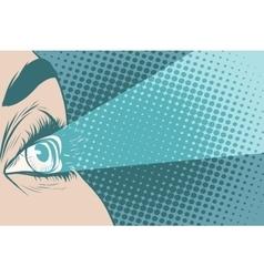 Glance spotlight eye girl vector image vector image